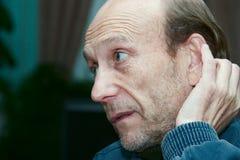 άτομο μπλε ζακετών Στοκ εικόνες με δικαίωμα ελεύθερης χρήσης