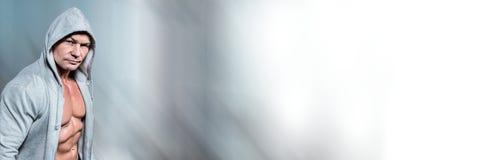 Άτομο μπόξερ με το φωτεινό φως κινήσεων Στοκ Φωτογραφίες