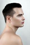 Άτομο μόδας με τις πτώσεις στο πρόσωπο Στοκ Εικόνα