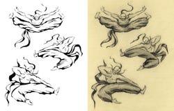 Άτομο, ο χορός τύπων Τρύγος αναδρομικός Στοκ εικόνα με δικαίωμα ελεύθερης χρήσης