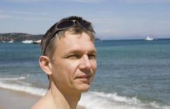 άτομο παραλιών Στοκ φωτογραφία με δικαίωμα ελεύθερης χρήσης