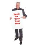 Άτομο πινάκων διαφημίσεων στοκ φωτογραφία με δικαίωμα ελεύθερης χρήσης
