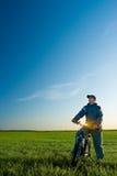 άτομο ποδηλάτων Στοκ φωτογραφία με δικαίωμα ελεύθερης χρήσης