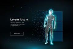 Άτομο πολυγώνων Wireframe απεικόνιση αποθεμάτων