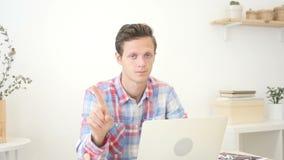 Άτομο που λέει όχι, σχεδιαστής, κακή ιδέα απόθεμα βίντεο