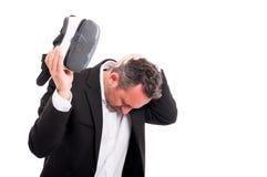 Άτομο που αισθάνεται ανήσυχο μετά από την προσομοίωση vr Στοκ φωτογραφίες με δικαίωμα ελεύθερης χρήσης