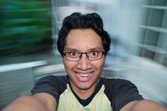 Άτομο που αισθάνεται ευτυχές Στοκ φωτογραφία με δικαίωμα ελεύθερης χρήσης
