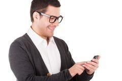 Άτομο που δακτυλογραφεί ένα μήνυμα. Στοκ Φωτογραφία