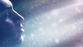 Άτομο που βυθίζεται στο φως Στοκ Εικόνες