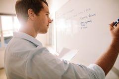 Άτομο που γράφει στο whiteboard με τη μάνδρα δεικτών στοκ φωτογραφίες με δικαίωμα ελεύθερης χρήσης