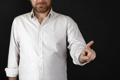 άτομο που δείχνει κάτι Στοκ εικόνες με δικαίωμα ελεύθερης χρήσης