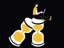 Άτομο που εργάζεται στο γυαλί άμμου ελεύθερη απεικόνιση δικαιώματος
