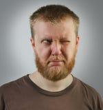 Άτομο που κοιτάζει μακριά στην πλευρά με ένα μάτι Στοκ Εικόνες
