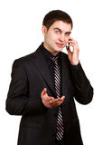 Άτομο που μιλά στο τηλέφωνο Στοκ εικόνες με δικαίωμα ελεύθερης χρήσης