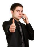 Άτομο που μιλά στο τηλέφωνο Στοκ Φωτογραφίες