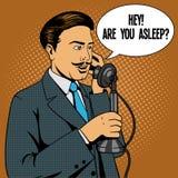Άτομο που μιλά στο εκλεκτής ποιότητας τηλεφωνικό διάνυσμα Στοκ εικόνες με δικαίωμα ελεύθερης χρήσης