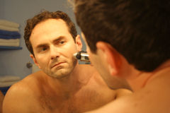 Άτομο που ξυρίζει 2 Στοκ φωτογραφία με δικαίωμα ελεύθερης χρήσης