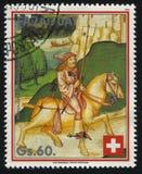 Άτομο που οδηγά ένα άλογο Στοκ Εικόνες