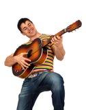 Άτομο που παίζει την κιθάρα Στοκ φωτογραφία με δικαίωμα ελεύθερης χρήσης