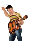 Άτομο που παίζει την κιθάρα Στοκ Εικόνες