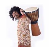 Άτομο που παίζει το djembe Στοκ Φωτογραφία