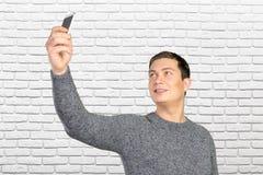 Άτομο που παίρνει μια φωτογραφία selfie στοκ φωτογραφία με δικαίωμα ελεύθερης χρήσης