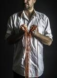 Άτομο που παρουσιάζει πυγμές του Στοκ Φωτογραφίες