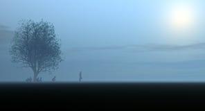 Άτομο που περπατά στο μέλλον Στοκ εικόνες με δικαίωμα ελεύθερης χρήσης
