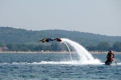 Άτομο που πετά - 4 Στοκ Εικόνες