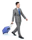 Άτομο που πηγαίνει σε ένα επιχειρησιακό ταξίδι Στοκ εικόνα με δικαίωμα ελεύθερης χρήσης