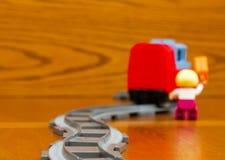 Άτομο που πιάνει ένα τραίνο Στοκ Φωτογραφία