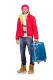 Άτομο που προετοιμάζεται για το χειμώνα Στοκ εικόνα με δικαίωμα ελεύθερης χρήσης