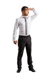Άτομο που στέκεται και που κοιτάζει προς τα εμπρός Στοκ Εικόνα