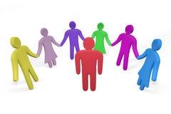 Άτομο που στέκεται μεταξύ των φίλων ή των συναδέλφων Στοκ εικόνες με δικαίωμα ελεύθερης χρήσης