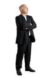 Άτομο που στέκεται στο στούντιο και που ανατρέχει Στοκ φωτογραφία με δικαίωμα ελεύθερης χρήσης