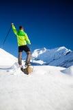 Άτομο που στα βουνά του Ιμαλαίαυ στο Νεπάλ Στοκ εικόνες με δικαίωμα ελεύθερης χρήσης