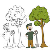 άτομο που το δέντρο Στοκ Φωτογραφίες