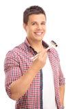 Άτομο που τρώει τα σούσια με τα κινεζικά ραβδιά Στοκ φωτογραφία με δικαίωμα ελεύθερης χρήσης