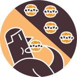 Άτομο που τρώει τα χάμπουργκερ Στοκ εικόνες με δικαίωμα ελεύθερης χρήσης