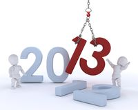 Άτομο που φέρνει στο νέο έτος Στοκ φωτογραφία με δικαίωμα ελεύθερης χρήσης