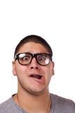 Άτομο που φορά τα γυαλιά Nerd Στοκ Εικόνες