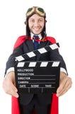Άτομο που φορά τον κόκκινο ιματισμό Στοκ Εικόνες