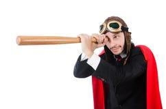Άτομο που φορά τον κόκκινο ιματισμό Στοκ Φωτογραφίες