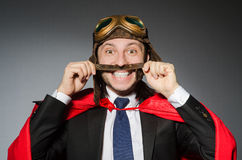 Άτομο που φορά τον κόκκινο ιματισμό Στοκ εικόνα με δικαίωμα ελεύθερης χρήσης