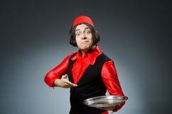 Άτομο που φορά το κόκκινο καπέλο του Fez Στοκ Φωτογραφία