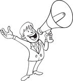 Άτομο που φωνάζει με megaphone Στοκ φωτογραφία με δικαίωμα ελεύθερης χρήσης