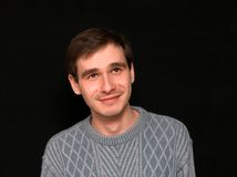 άτομο που χαμογελά επάνω να προσέξει Στοκ εικόνες με δικαίωμα ελεύθερης χρήσης