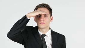 Άτομο που ψάχνει τη νέα πιθανότητα Στοκ Εικόνες