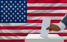 Άτομο που ψηφίζει για τις εκλογές στην Αμερική Στοκ Εικόνες