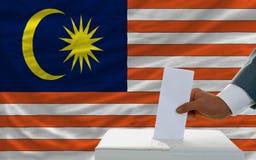 Άτομο που ψηφίζει για τις εκλογές στη Μαλαισία Στοκ Φωτογραφία